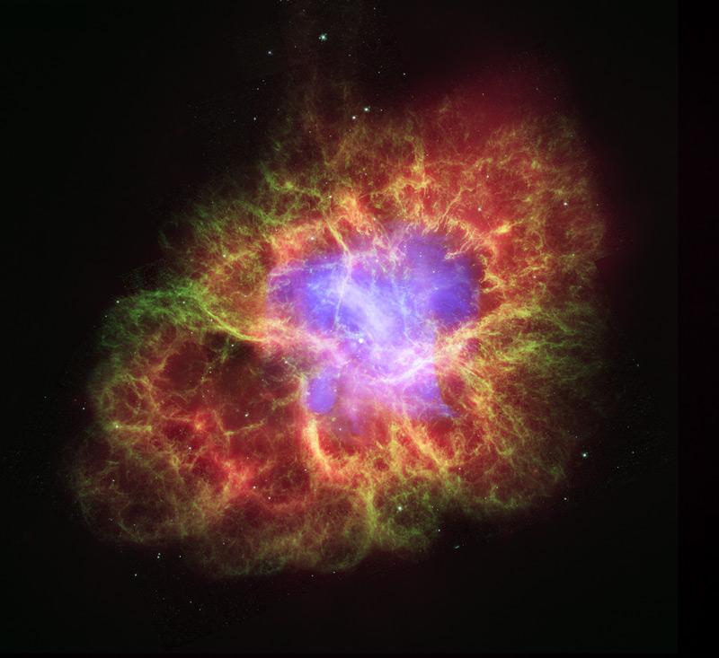 Мъглявината Рак през окото на Хъбъл
